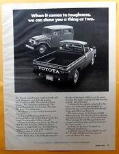 1972 Magazine Print Ad for Toyota Land Cruiser  & Half-Ton Truck