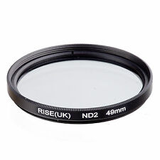 RISE(UK) 49MM 49 mm Neutral Density ND2 filter for ALL DSLR SLR Camera lens