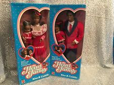 VINTAGE BARBIE HEART FAMILY KISS & CUDDLE AA AFRICAN-AMERICAN DOLLS MOM DAD