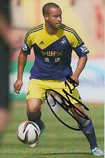 Swansea City mano firmato JAZZ Richards 6x4 Foto.