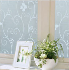 Hot 45x100cm Frosted Privacy Cover Glass Window Flower Sticker Film Home Decor