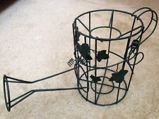 """Vintage Round Green Decorative Metal Wire Ivy Watering Can 8"""" x 16"""""""