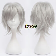 Silver Grey 30CM Short Layered Heat Resistant Hot Sale Anime Basic Cosplay Wig