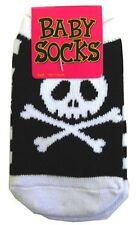 Baby Infant Socks Black White Skulls Punk Goth Rockabilly Kids Toddler Clothing