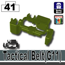 Green Tactical Belt G11 (W211) army police belt compatible w/ toy brick minifig