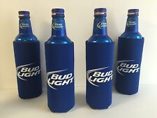 Bud Light Beer Koozie Fits 16 oz Aluminum Can Classic Logo Four (4) NEW & F/S