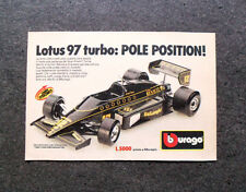I010-Advertising Pubblicità-1986- BBURAGO , LOTUS 97 TURBO