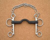 Rubber Ported Mouth Pelham - All Sizes - Horse Bit - Bits N Bridles
