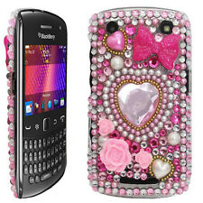 Bling Diamond Diamante Crystal Gem Back Case Cover for Blackberry 9360 Curve UK