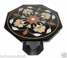 "23.5"" Marble Octagon Side Coffee Table Top With Stand Inlay Gem Home Decor H773A"