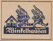 Pr. STARGARD, Werbung 1926, Winkelhausen Deutscher Weinbrand Alte Reserve