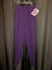 Vtg, 80s LEVI'S BEND OVER Purple  SLiMMiNG DRESS SLACKS PANTS Women's Size 8