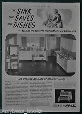 1937 INCO advertising page, Whitehead Metal Kitchens RETRO kitchen cabinets