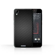 STUFF4 Case/Cover for HTC Desire 825/Carbon Fibre Effect/Pattern/Grey