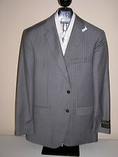 $1295 new Jos A Bank Signature Gold  Grey stripe suit 48 X L 43 W tailored fit