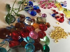 Vintage Unfoiled Rhinestones repair/craft/glass art mixed Pack 76 Post Free