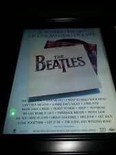 The Beatles 20 Greatest Hits Album Rare Promo Poster Ad Framed!