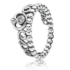 New! Authentic Pandora 925 Silver My Princess Stackable Ring 190880CZ Size 6/52