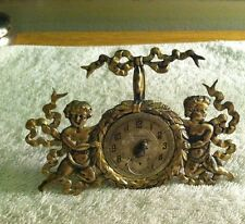 George Shiebler Antique Sterling Silver Cherubs Gold Vermeil Pocket Watch Holder
