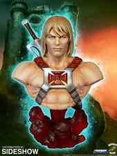 MOTU Masters Of The Universe Licensed Deluxe HE MAN BUST Statue w/ Power Sword