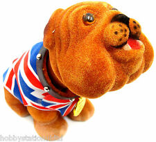 Nodding British Bulldog British Nodding Dog Union Jack Bull Dog Waistcoat Small