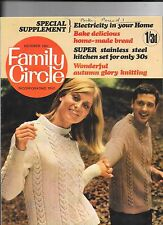 Family Circle Magazine October 1967 + Special Supplement Knitting Bread Making