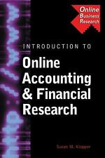 Introduction to Online Accounting & Financial Research (Business Resea-ExLibrary