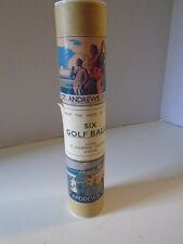 St Andrews Golf Balls Crest 6 Six Eximious Tube Home of the Royal & Ancient Game