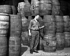 Barrels of Dill Pickles, Washington Pickle Works, NY -1959- Vintage Photo Print