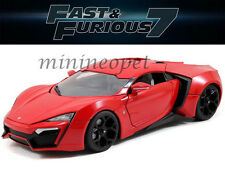 JADA 97388 2015 FAST AND FURIOUS 7 LYKAN HYPERSPORT SUPERCAR 1/18 DIECAST RED