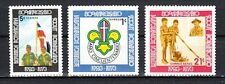 * Dominican Rep., Scott cat. 718-719, C213. 50th Anniversary of Scouting issue.