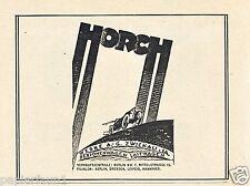 Auto Horch Zwickau Reklame von 1924 Rennwagen Personenwagen Lastwagen Werbung Ad