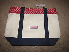 "NEW *VINEYARD VINES* ""Flag and Stars"" Tote Bag Red White Blue 13""x17"" NWT"