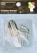 NEW IMAGINISCE CLEAR STAMP POPSICLE SUMMER BEACH VACATION 000530