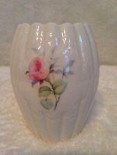 Vintage PARIAN DONEGAL IRISH China Vase PINK FLOWERS
