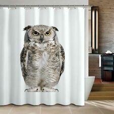 Cute Lively Owl Bathroom Fabric Shower Curtain Free 12 Hooks New Home Decor Gift