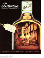 PUBLICITE ADVERTISING 066  2000  Whisky Ballantine's   les oies blanches