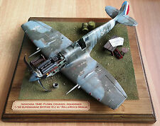 Built Diorama Crashed Spitfire Mk.IXc Tamiya 1/32 + scratch and aftermarket