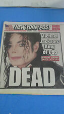 MICHAEL JACKSON-KING OF POP-DEAD NEW YORK POST SPECIAL EDITION W/ PICTURES