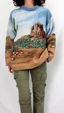 Art Unlimited Sportswear Cotton L Sleeve Mock Neck Tapestry Sweater Multi Sz L