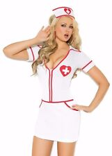 Sexy Nurse Costume XL Women Heart Role Play Halloween Cosplay White Red Dress
