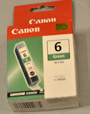 (PRL) CANON BCI-6G CARTUCCIA INCHIOSTRO INK CARTRIDGE ORIGINAL GREEN VERDE VERT