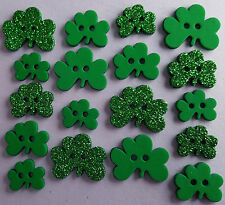 Shamrocks-S. Patrizio verde irlandese GLITTER dress It Up Bottoni Craft