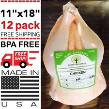 "POULTRY SHRINK BAGS 11"" X 18"" POULTRY MEAT FOOD PROCESSING FREEZER SAVER HEAT"