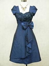 Cherlone Übergröße Blau Cocktailkleid Ballkleid Abendkleid Brautjungfer Kleid 48