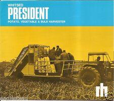 Farm Equipment Brochure - Whitsed President Potato Veg Bulb Harvester  (F2164)