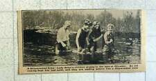 1921 Lady Astor's Children At Play In The Lake At Cliveden