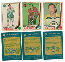 1969-70 OPC NHL Hockey Lot - Pick only the cards that you need