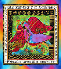 Laurel Burch Enchantment DOVE of PEACE Christmas PANEL 1/3 YD Fabric Clothworks
