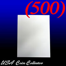 (500) Paper Inserts for 2x2 Vinyl Coin Flips